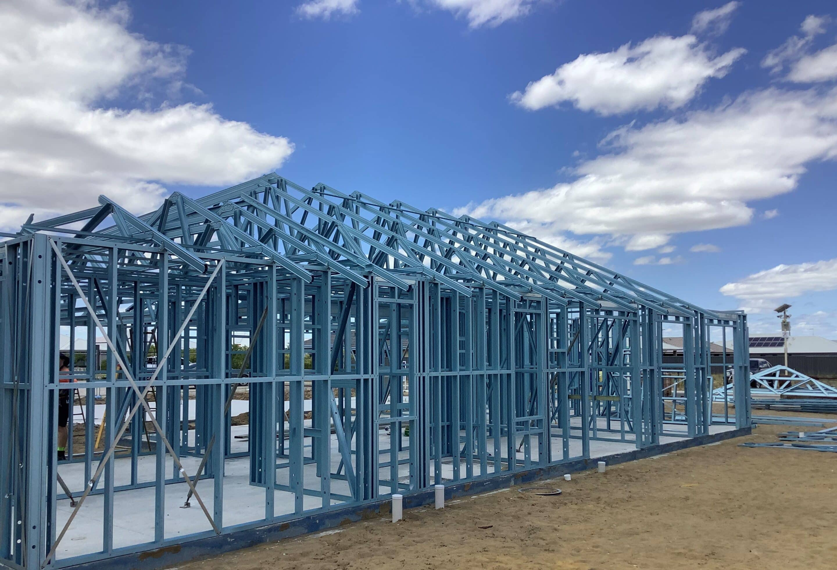 BlueScope Truecore steel framing of a house by Centurion Framing Systems