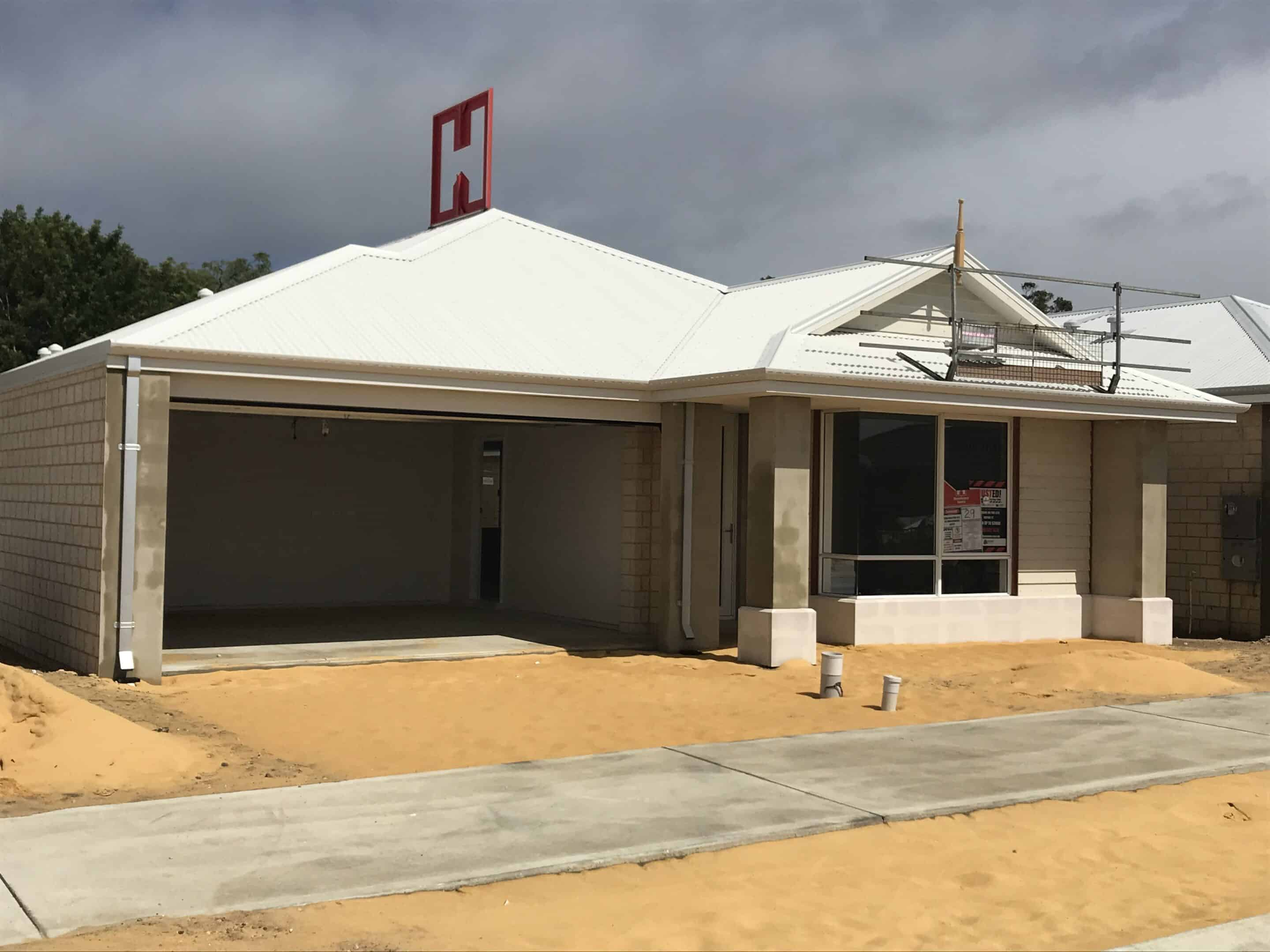 Homebuyers Centre WA display home getting built